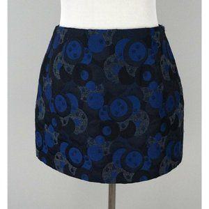 CATHERINE HOLSTEIN Navy Blue Fitted Mini Skirt